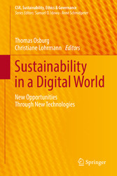 Sustainability in a Digital World - New Opportunities Through New Technologies